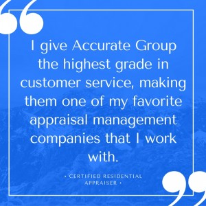 Real estate appraiser quote - Accurate Group